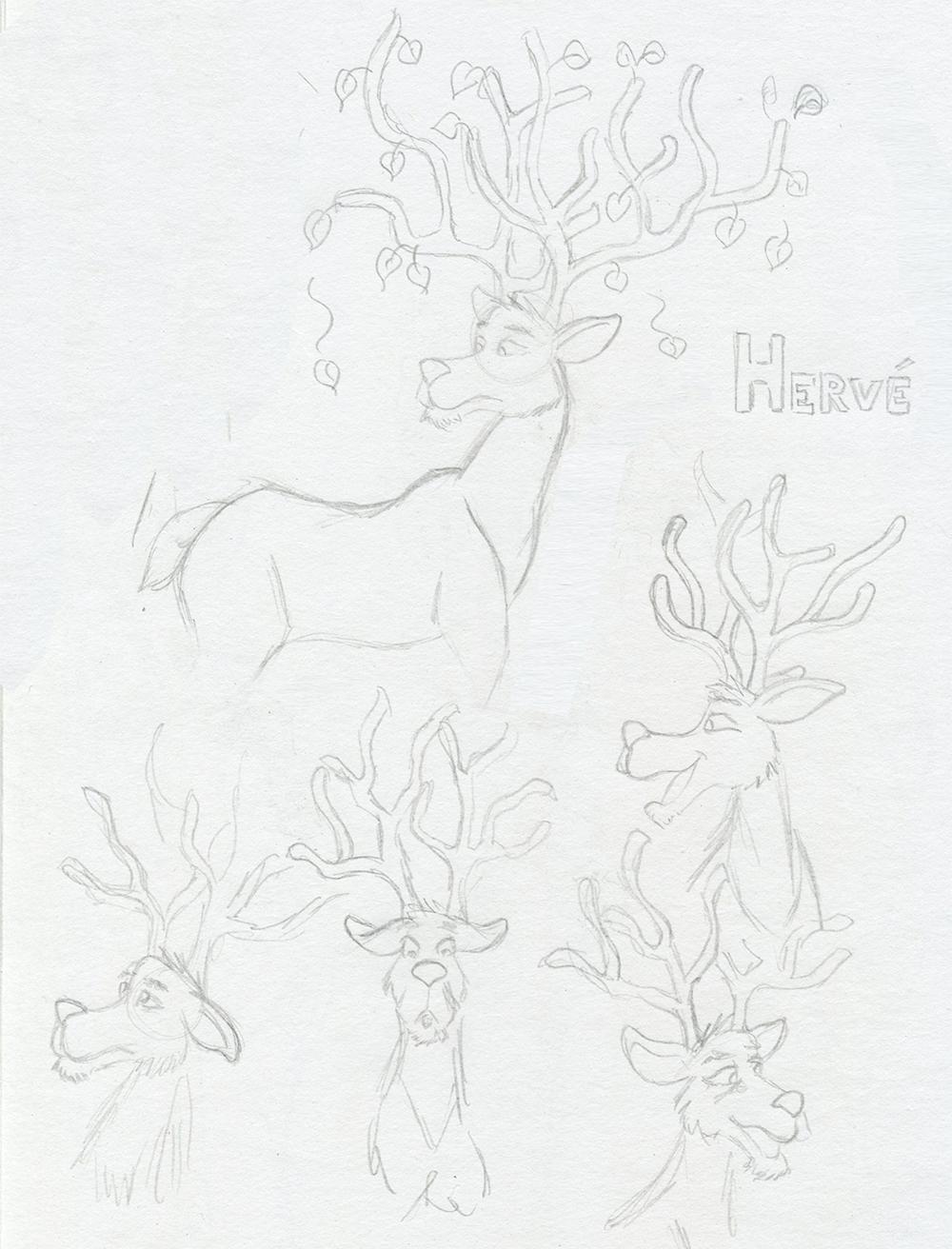 Planche de personnages Hervé le roi de la forêt