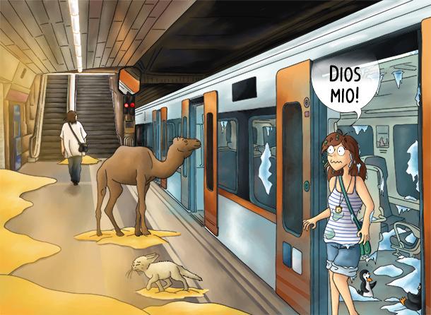 Le métro de Barcelonne