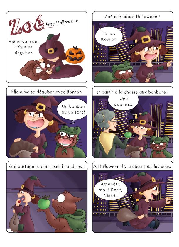 BD jeunesse les aventures de Zoé fête Halloween