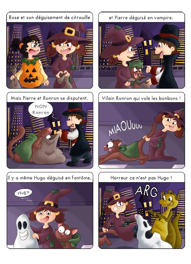 BD jeunesse les aventures de Zoé et son chat fêtent Halloween