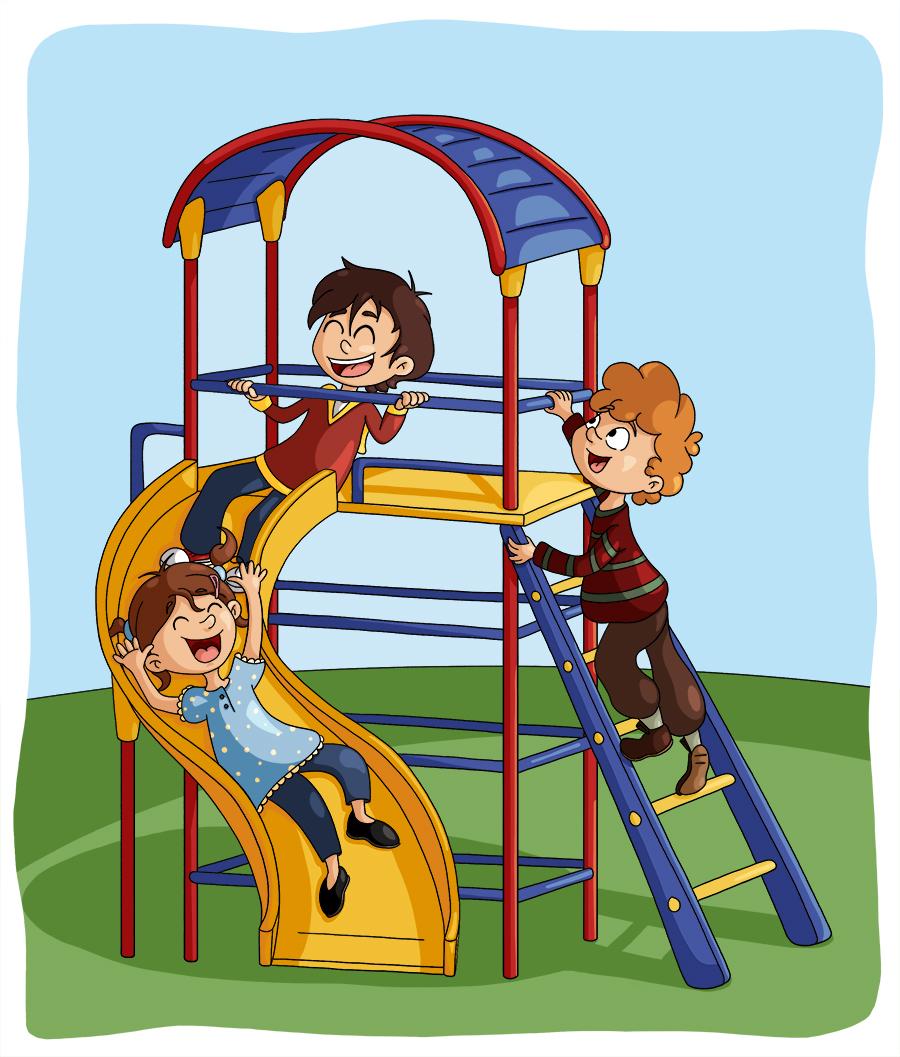 Illustration parascolaire jouer au square