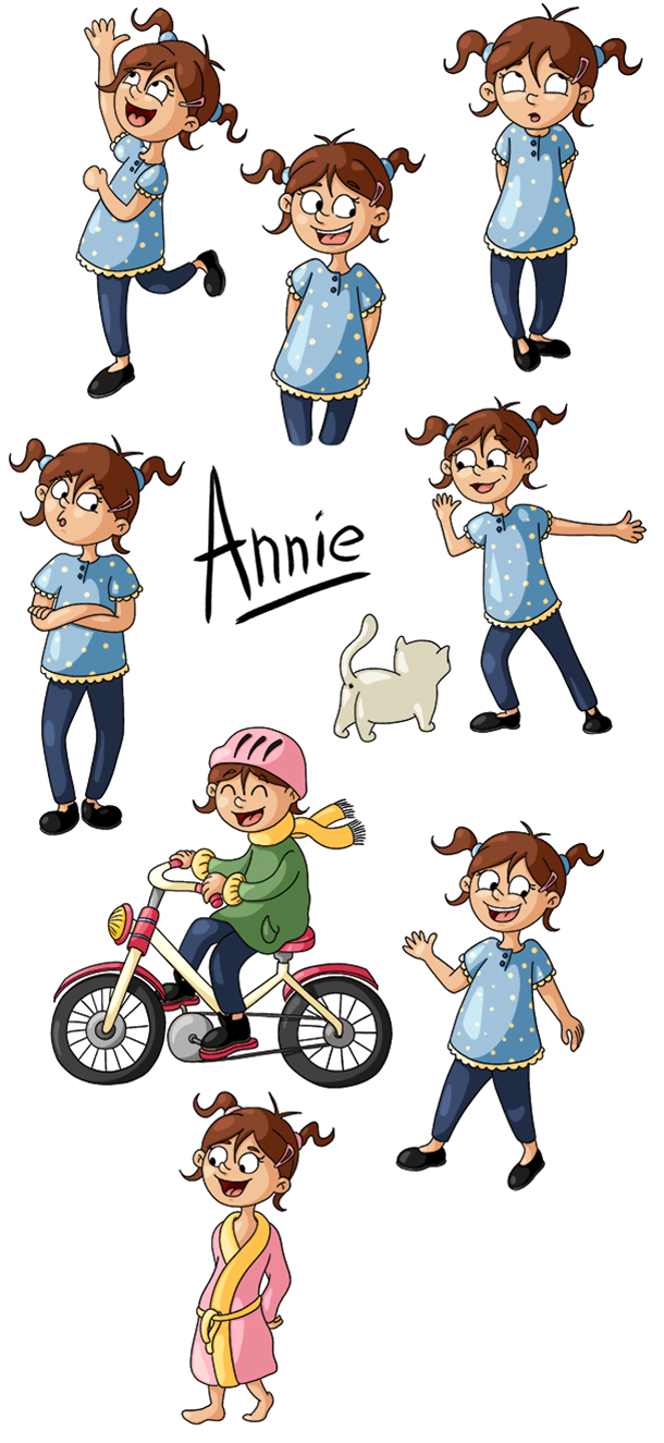 Recherche de personnage petite fille Annie