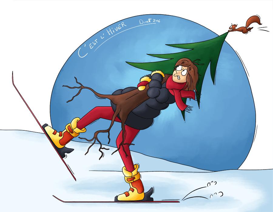 Ca y est c'est l'hiver on part au ski