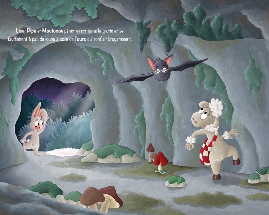 Projet album jeunesse illustration jeunesse agneau et chauve-souris