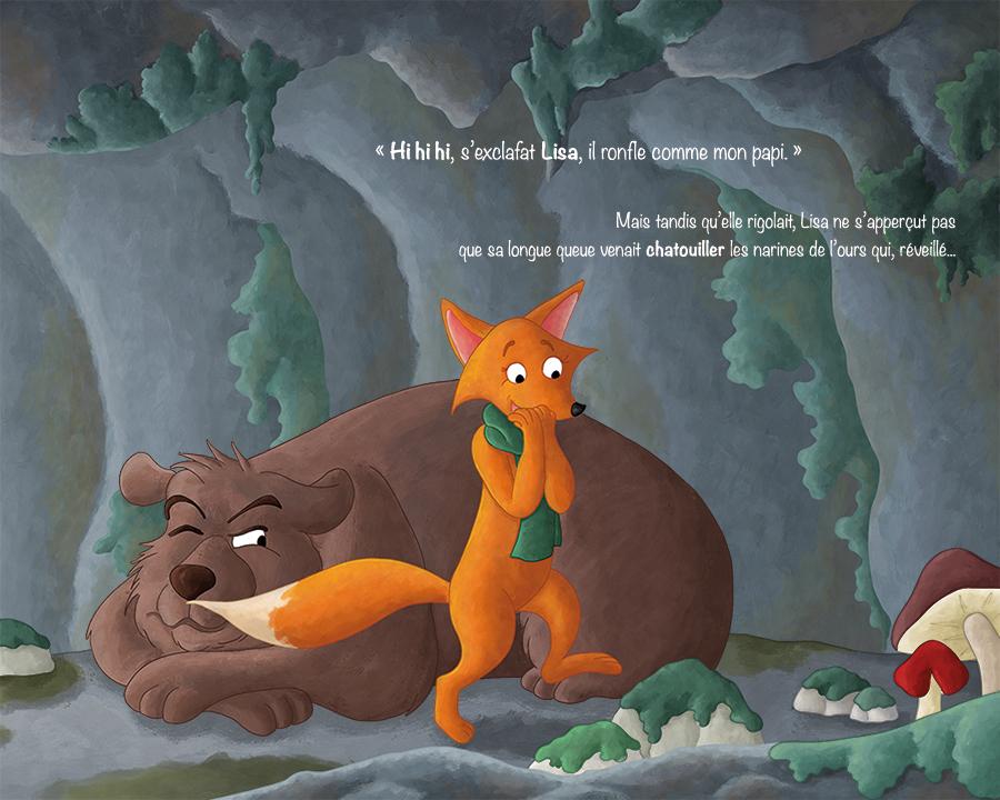 Projet album jeunesse illustration jeunesse renard et ours