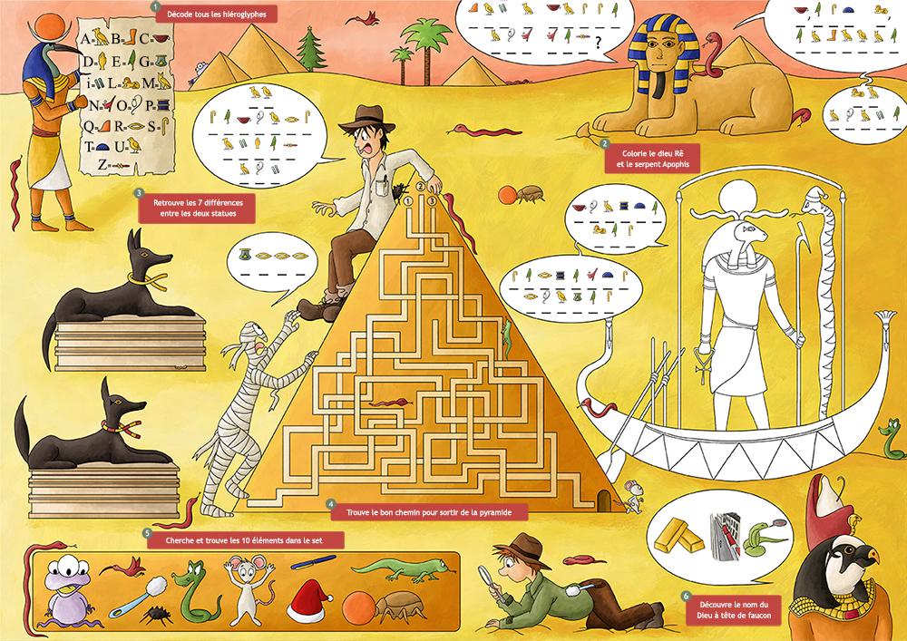Set de table jeux pour enfant Egypte