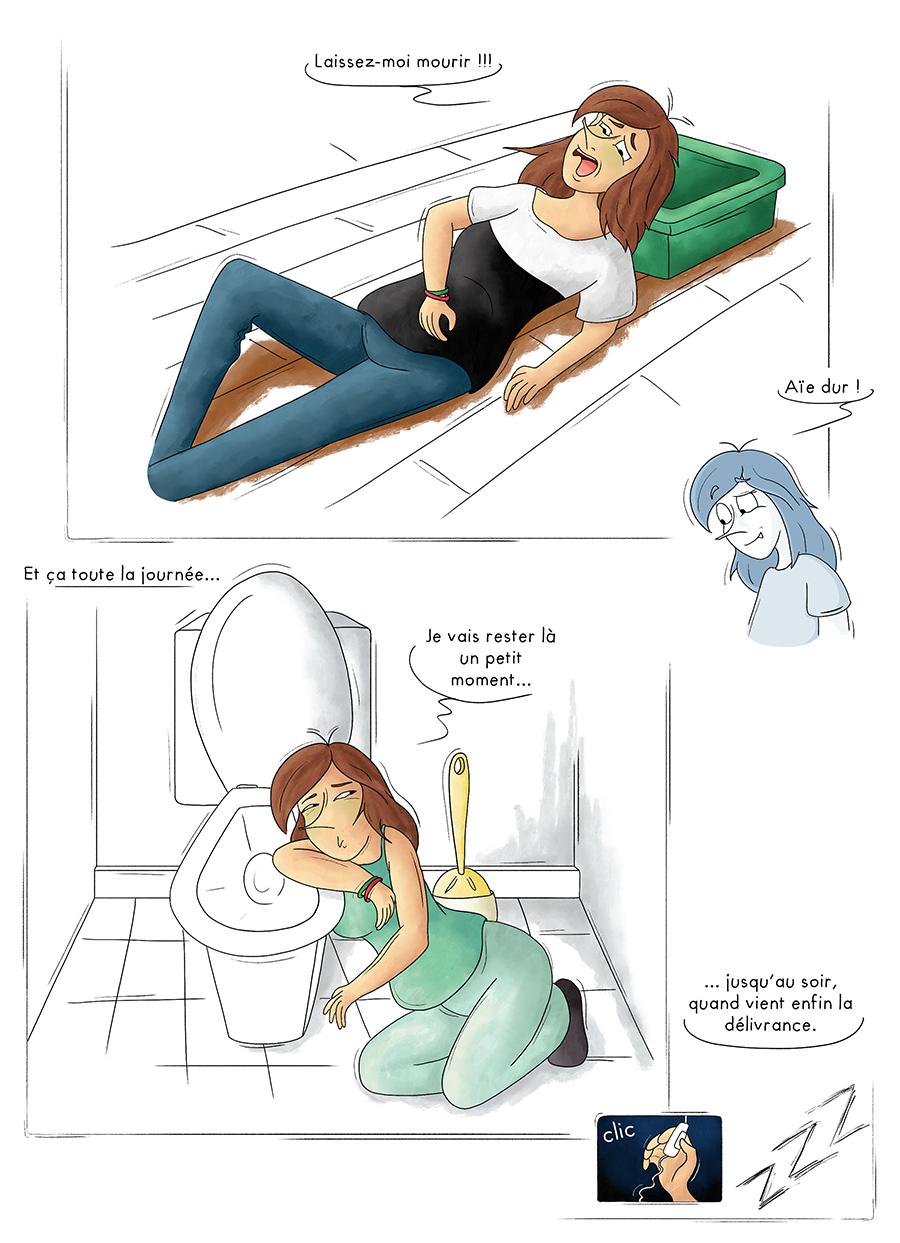 Illustration blog les joies du 1er trimestre d'une grossesse
