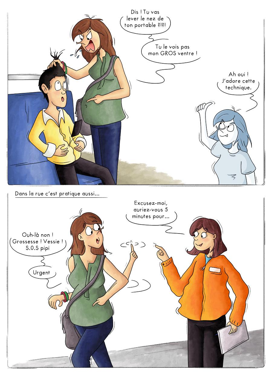 Laisser sa place dans le métro aux femmes enceintes