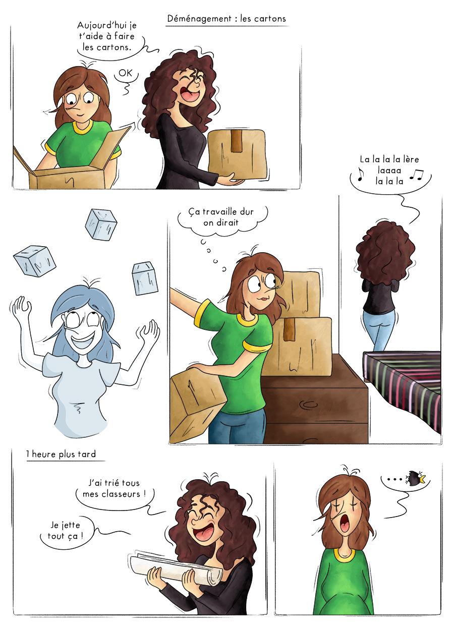 Déménagement faire les cartons