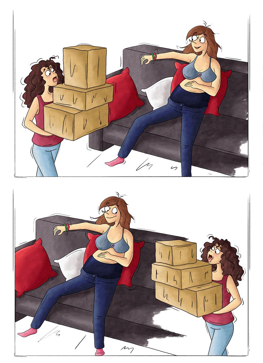 Ne rien porter quand on est enceinte