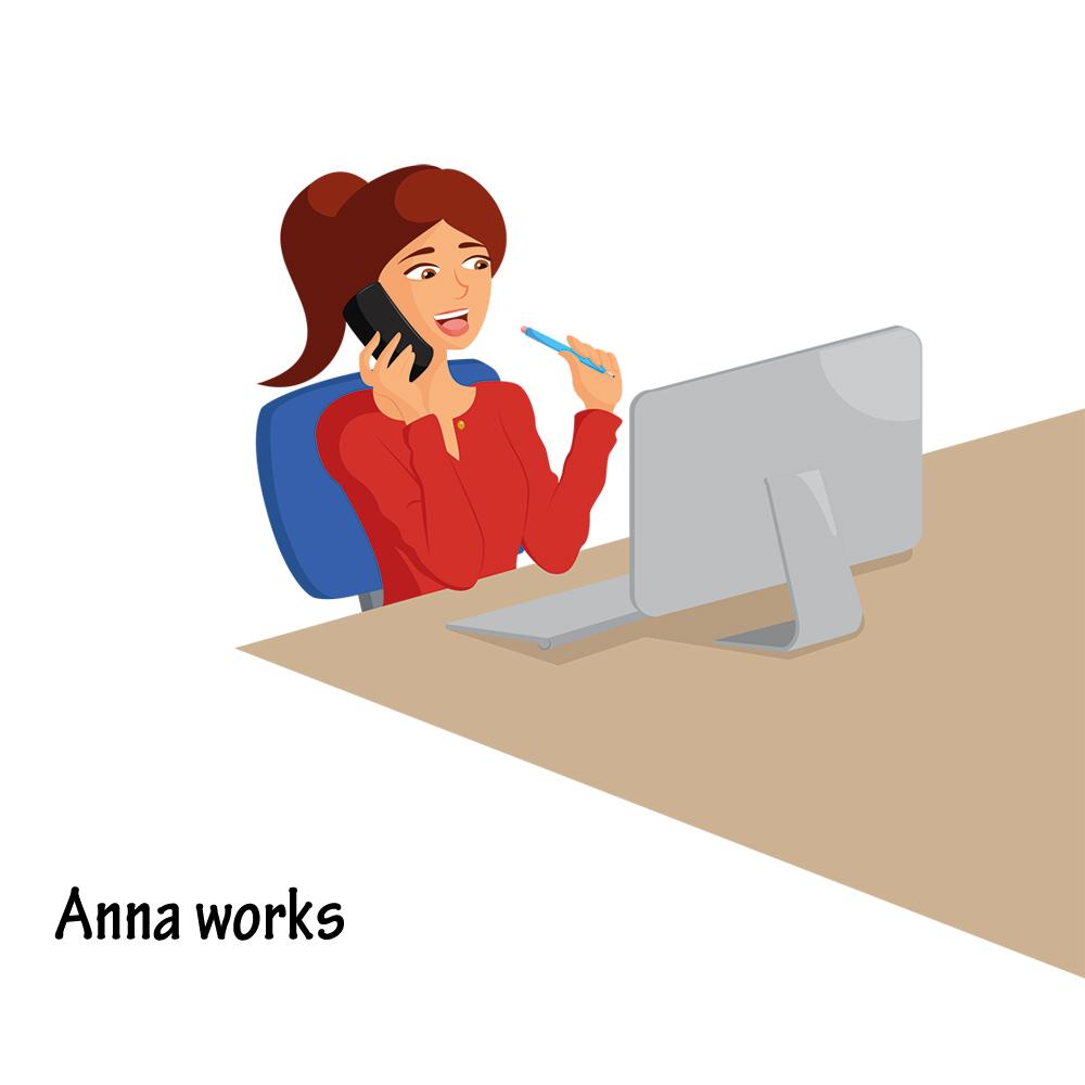 Vectoriel femme au travail
