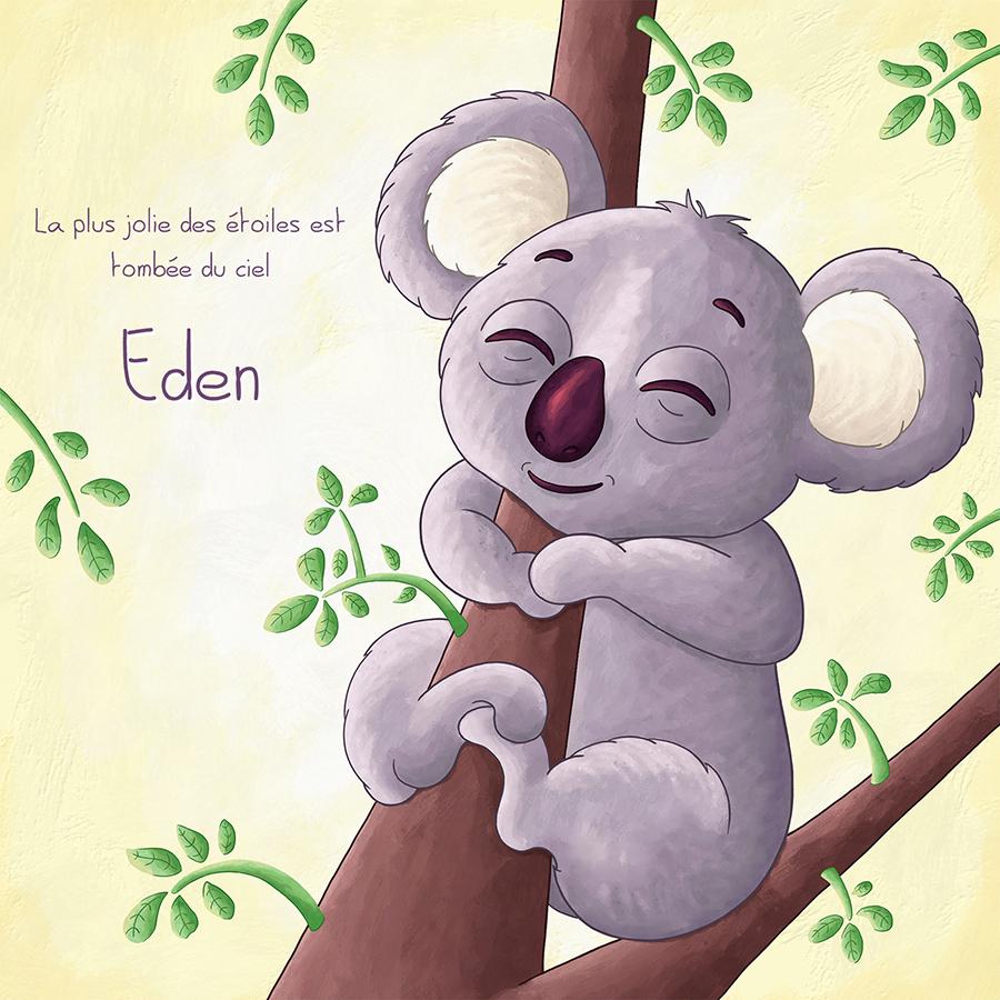 Illustration faire-part de naissance koala