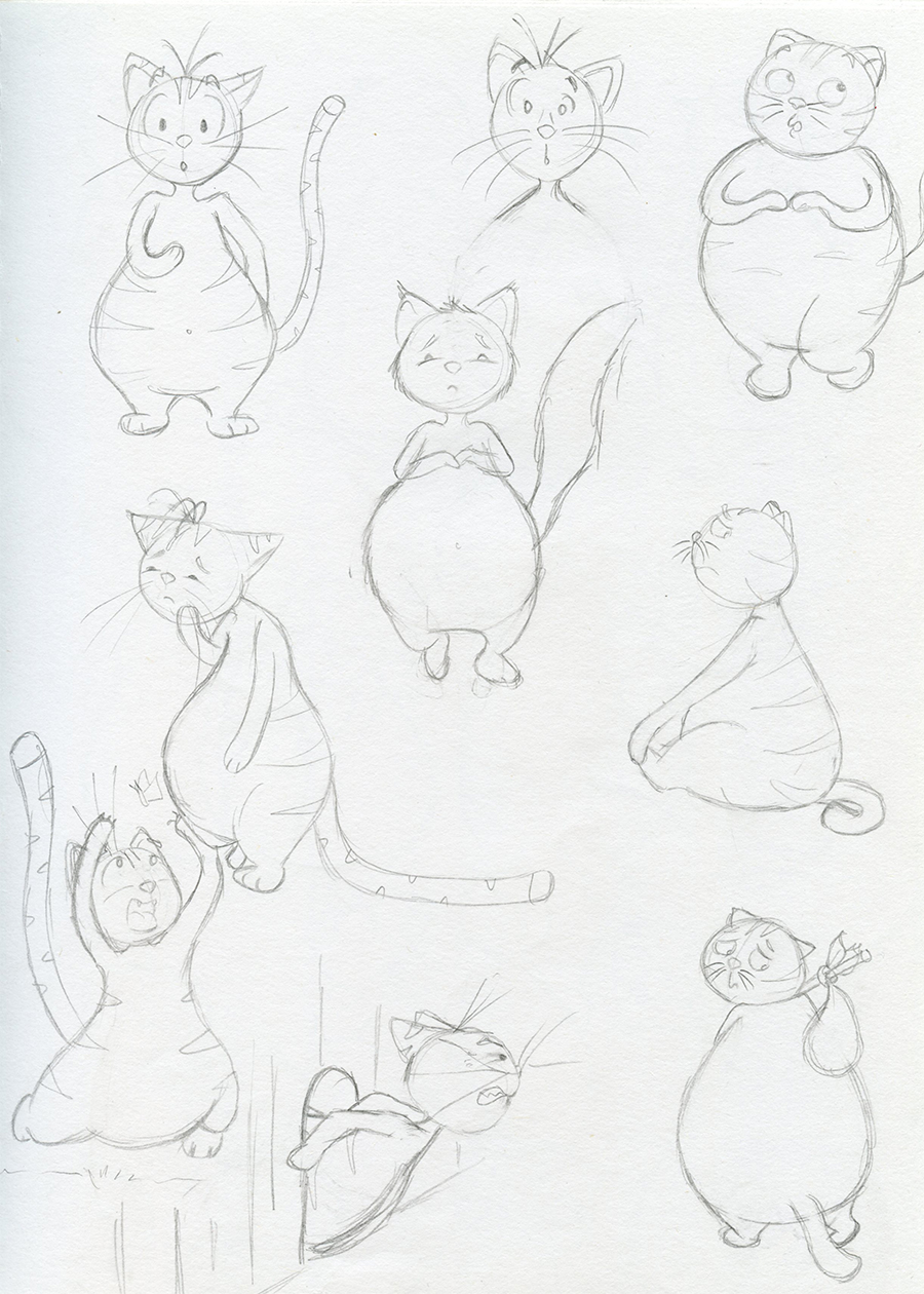 Character design de gros chat