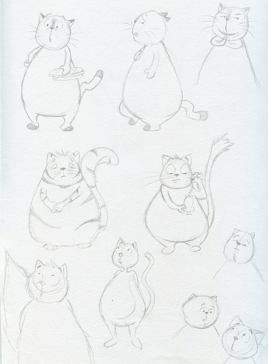 Dessins gros chat