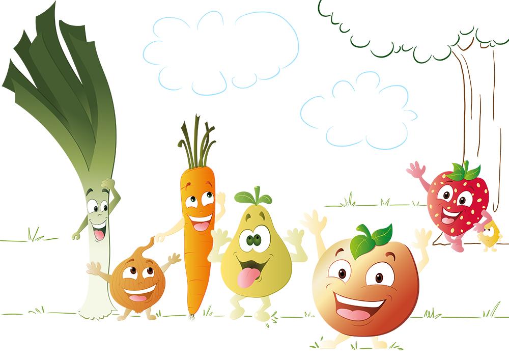 Amuses toi avec les fruits et légumes