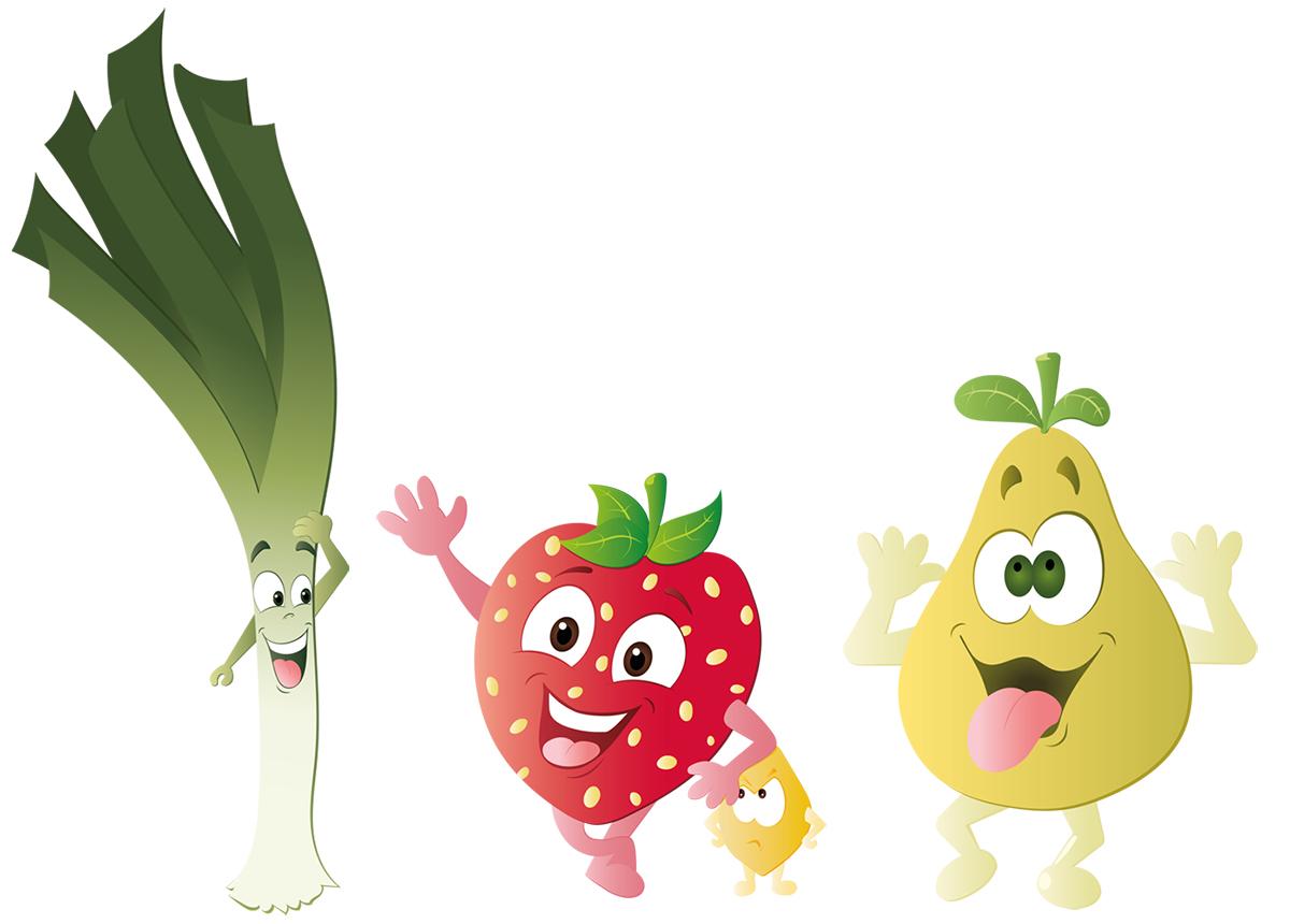 illustration vectorielle fruits et légumes