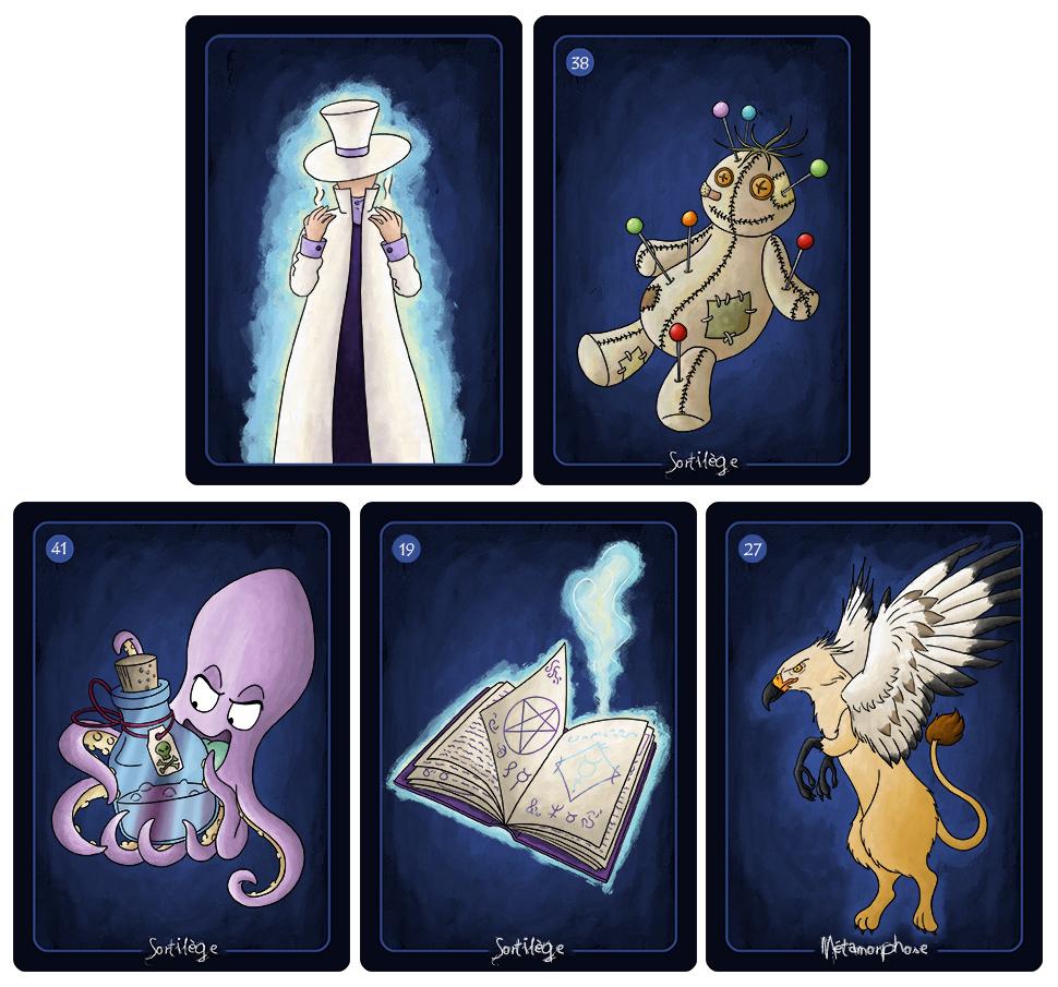 Jeu de cartes magie