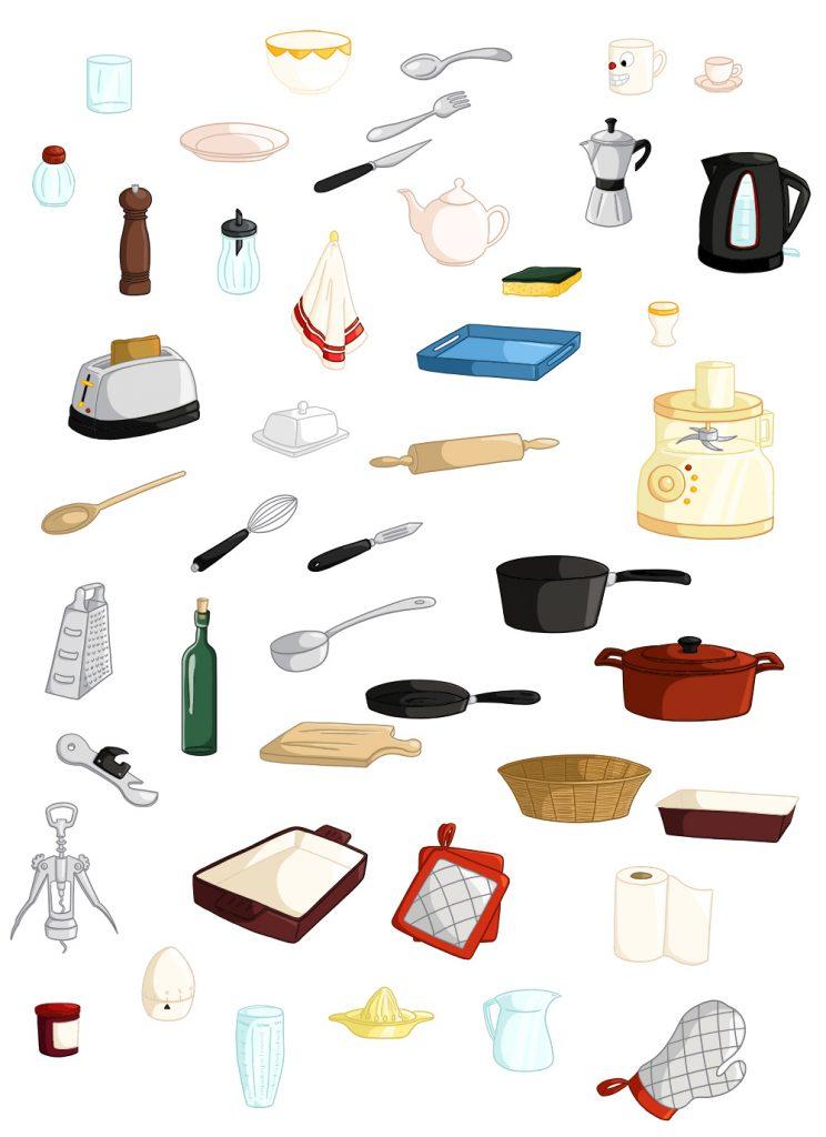 Imagier parascolaire objets cuisine