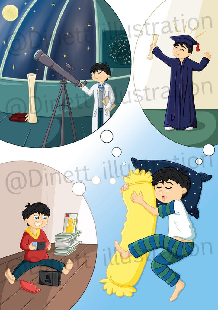 Illustration intérieur de roman jeunesse