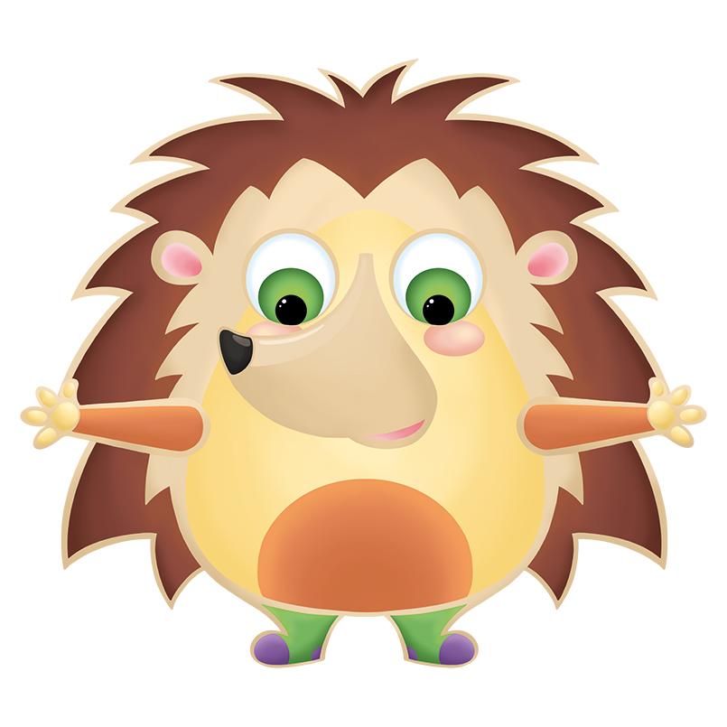 Conception jeu en bois pour enfant Leon le hérisson des émotions