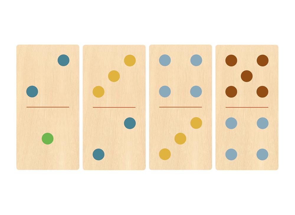 Illustration de jeu de dominos chiffres