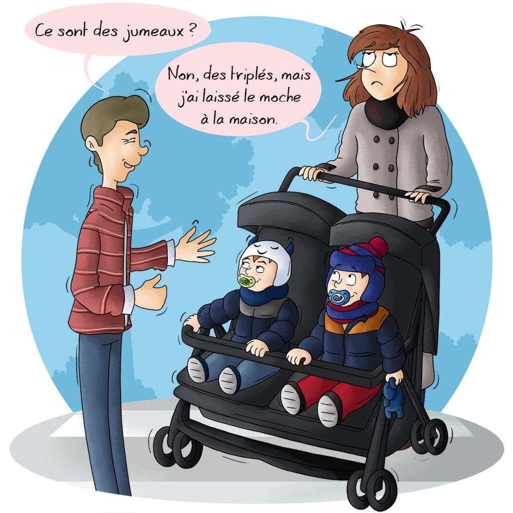 BD humour Parents de jumeaux les phrases qu'on doit supporter