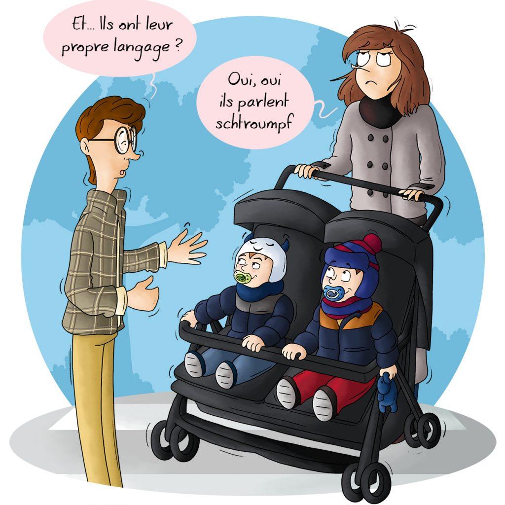 BD humour Parents de jumeaux les phrases qu'on préférerait ne pas entendre