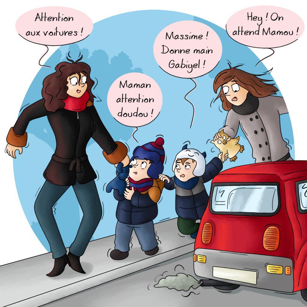 Donner la main à un enfant