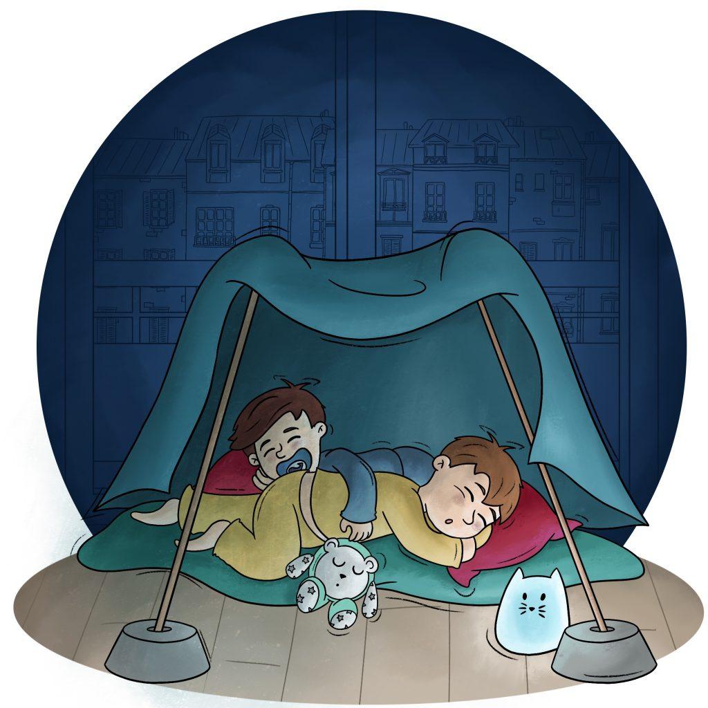 Confinement les enfants font des cabanes pour se protéger