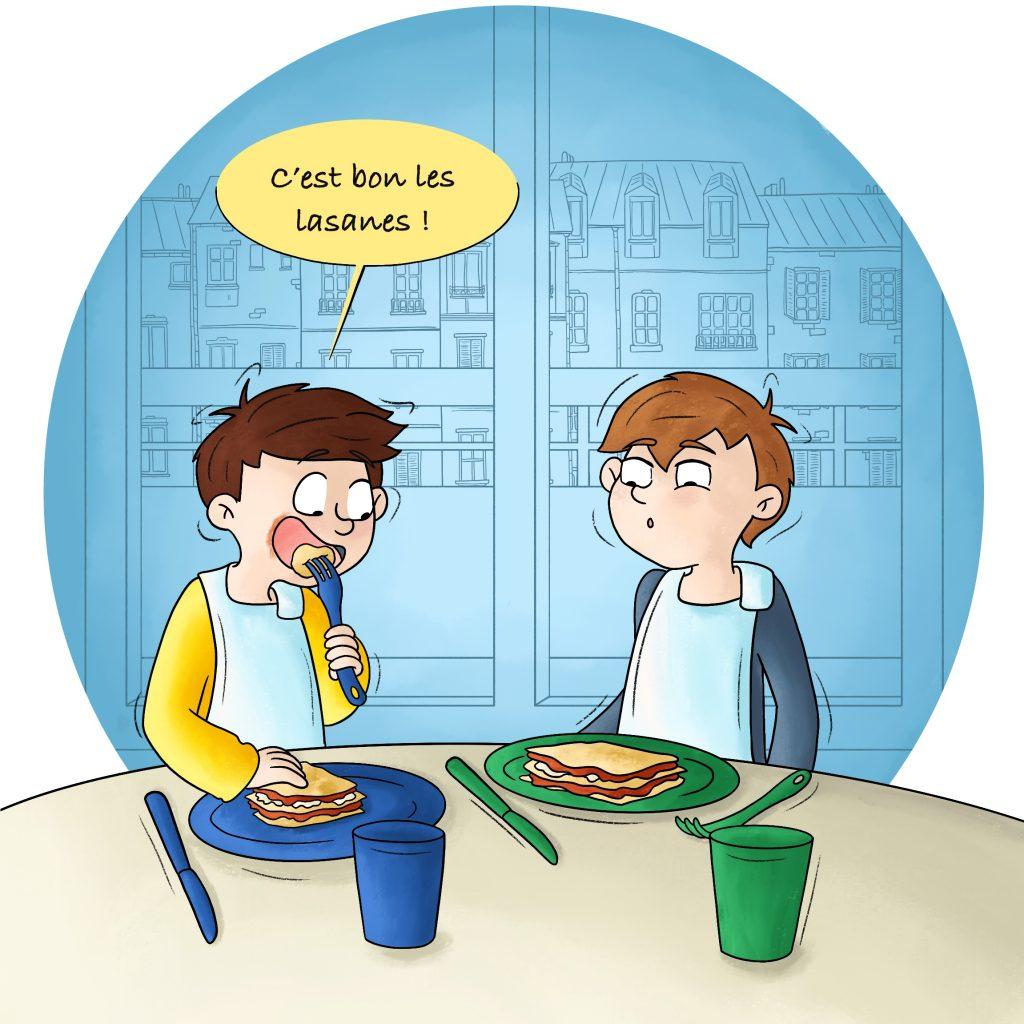 Illustration Faire manger ses enfants