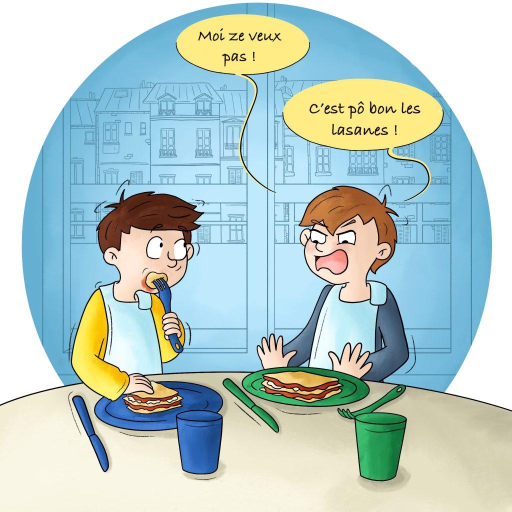Illustration bd mon enfant ne veut rien manger