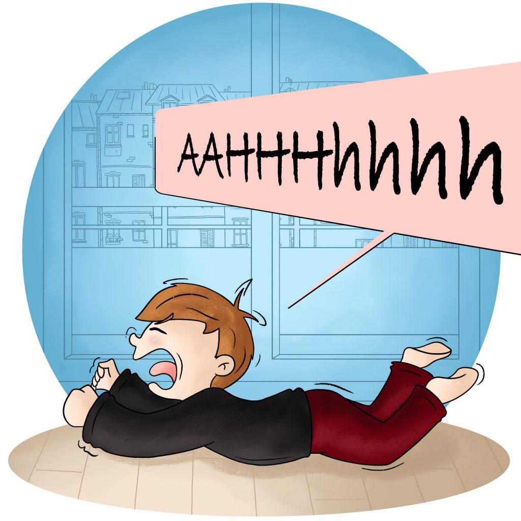 Illustration crise de colère