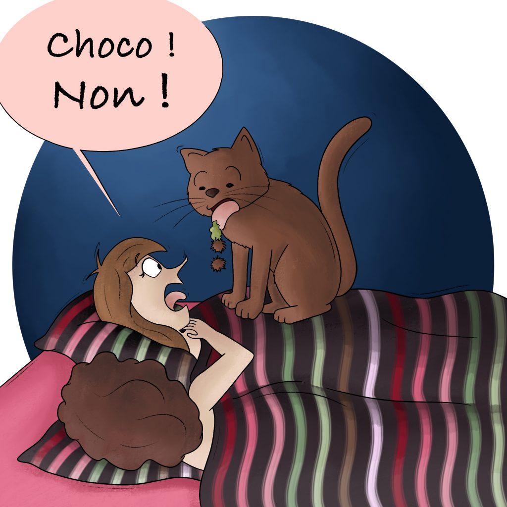 Réveiller par son chat