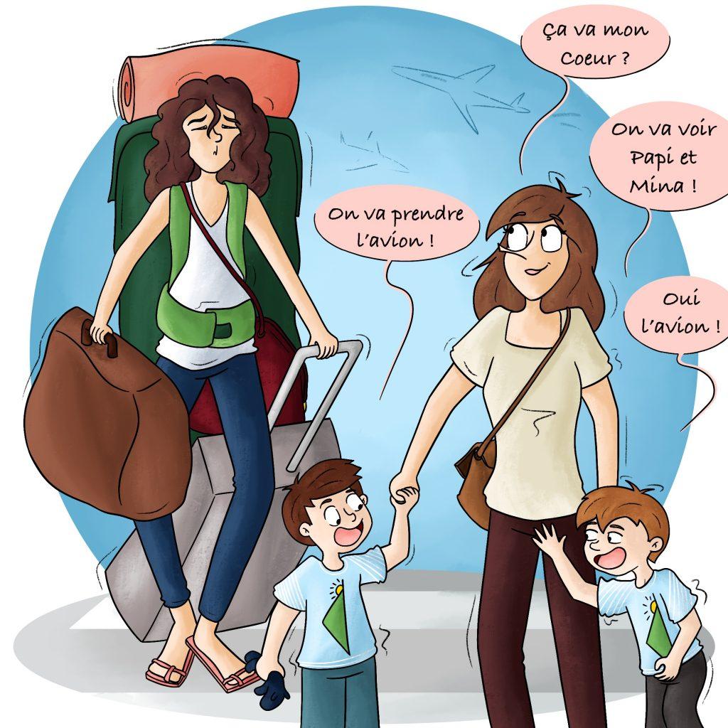 Partir en vacances avec des enfants