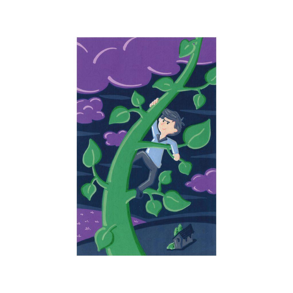 Peinture aux Posca Jack et le haricot magique