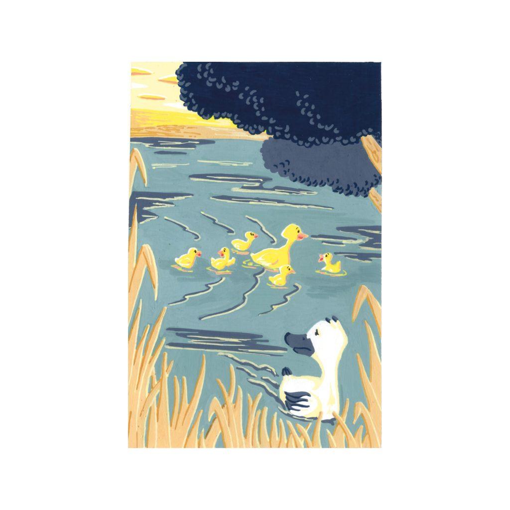 Peinture aux Posca Le vilain petit canard