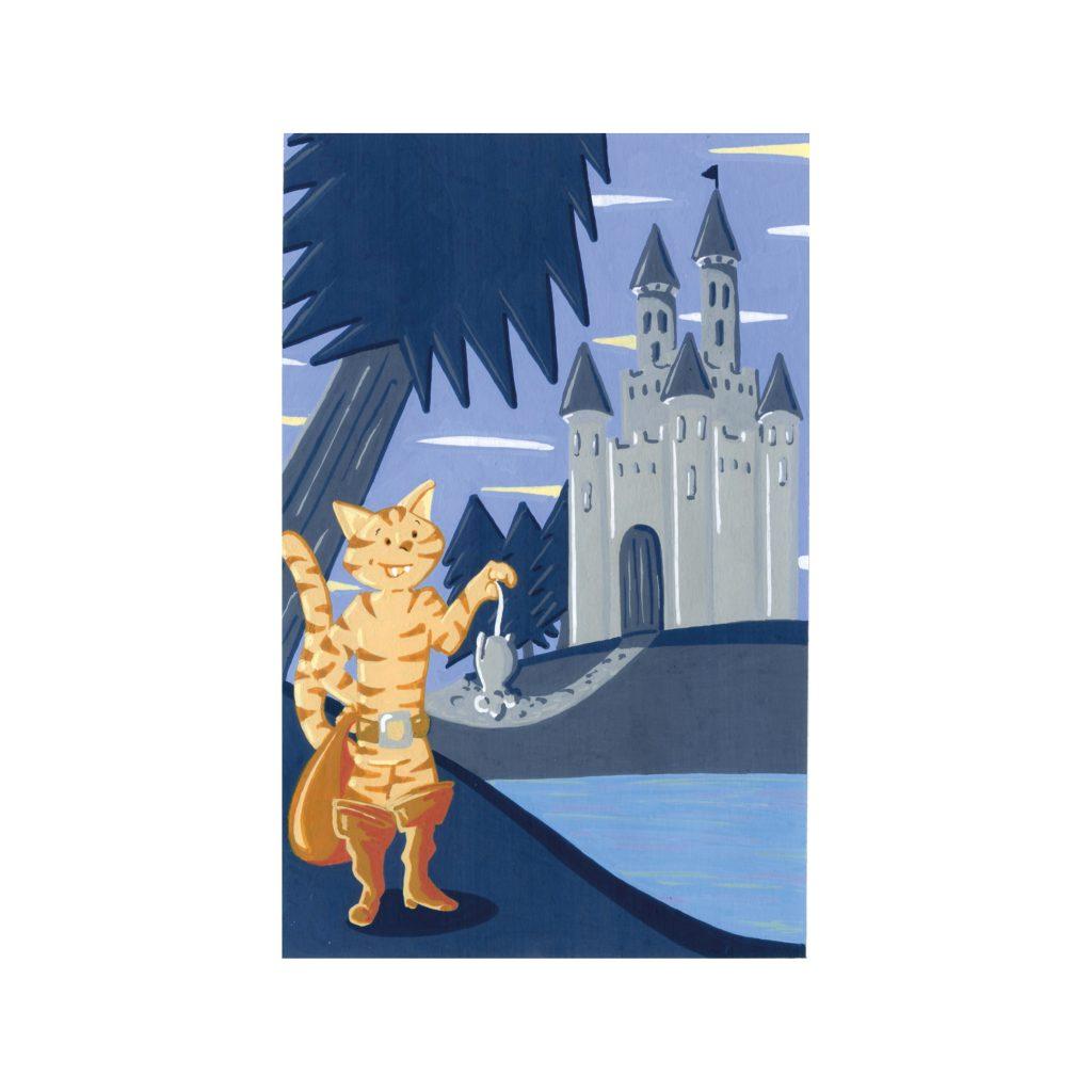 Peinture aux Posca Le chat botté