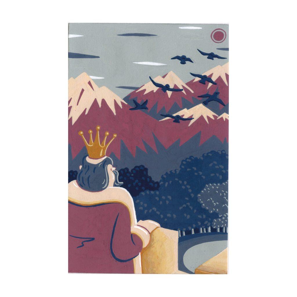 Peinture aux Posca Les sept corbeaux