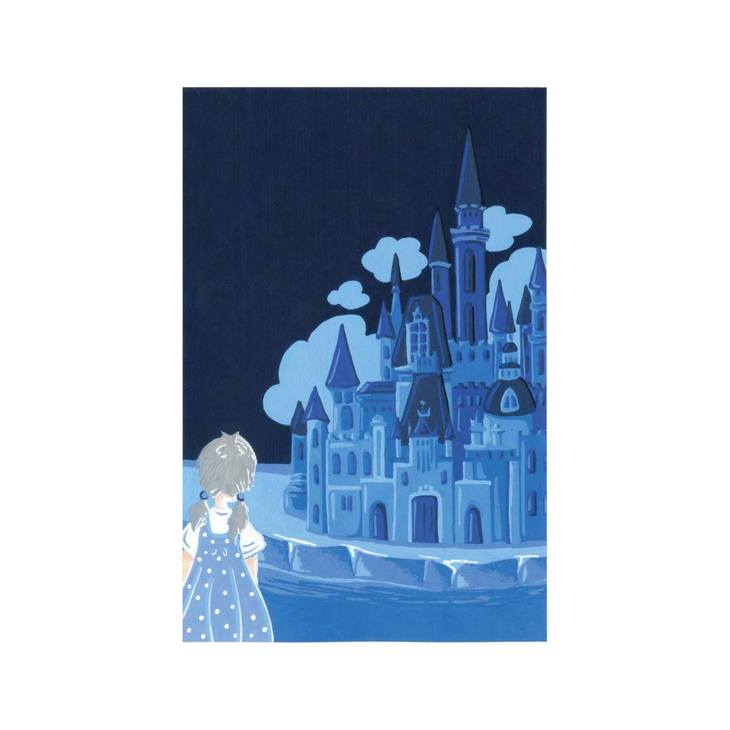 Peinture aux Posca La reine des neiges