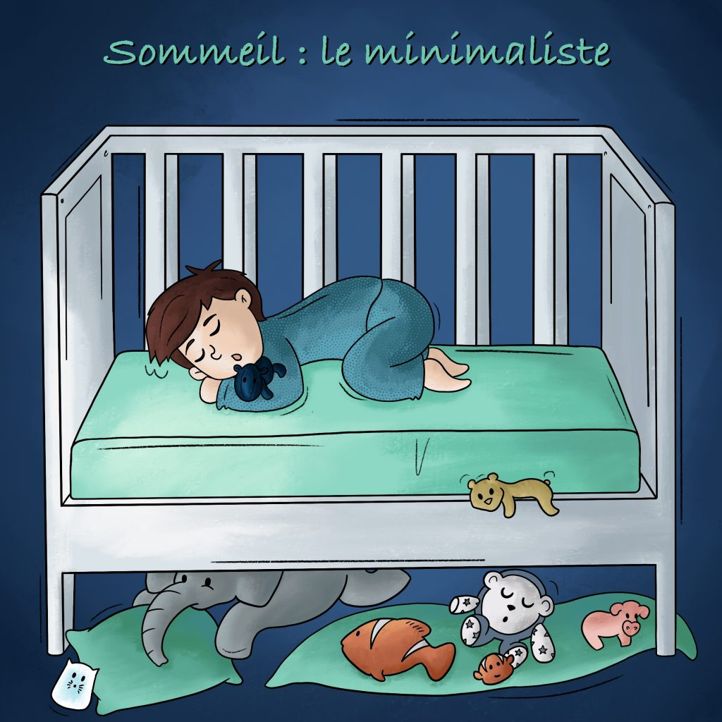 Illustration bébé qui dort