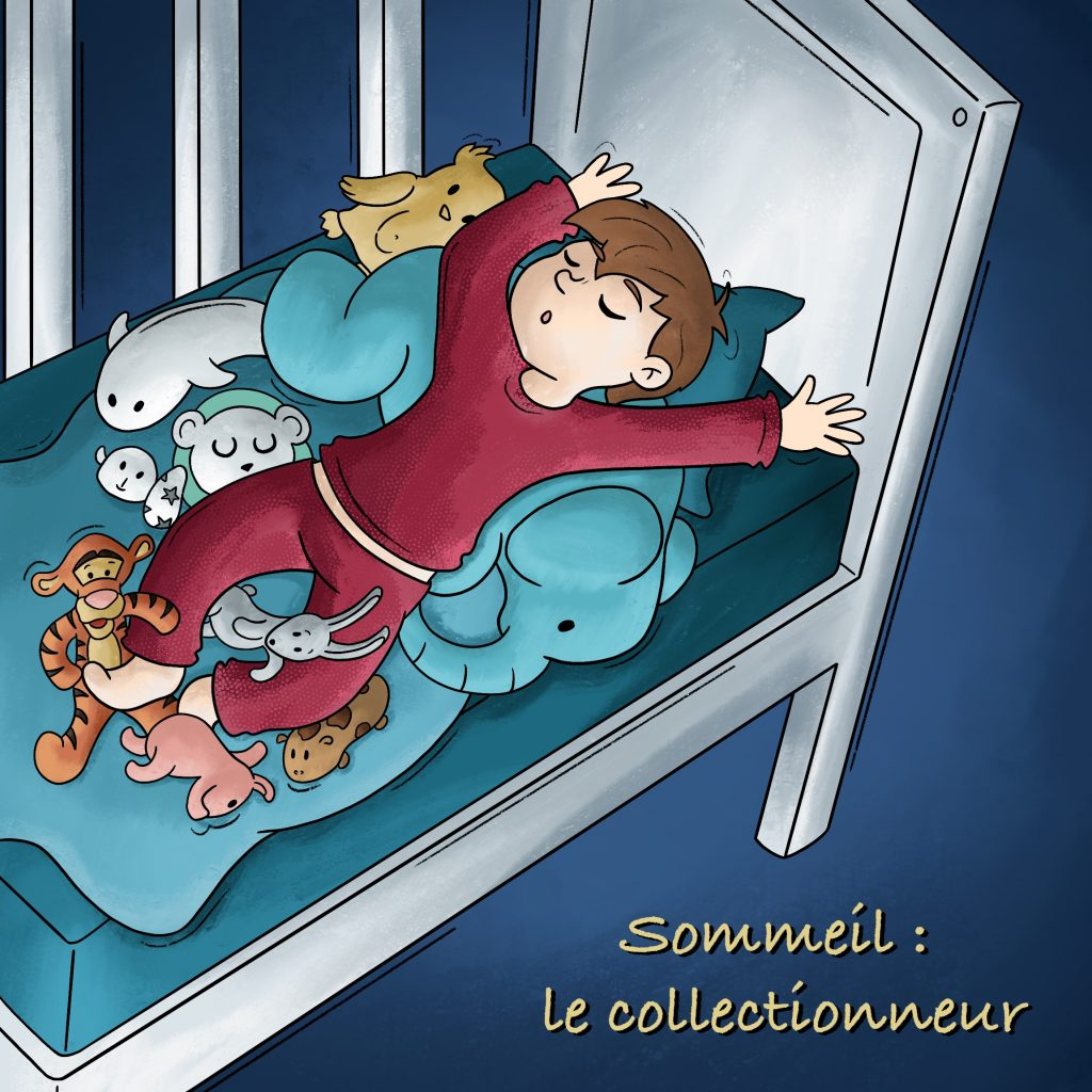 Illustration enfant qui dort