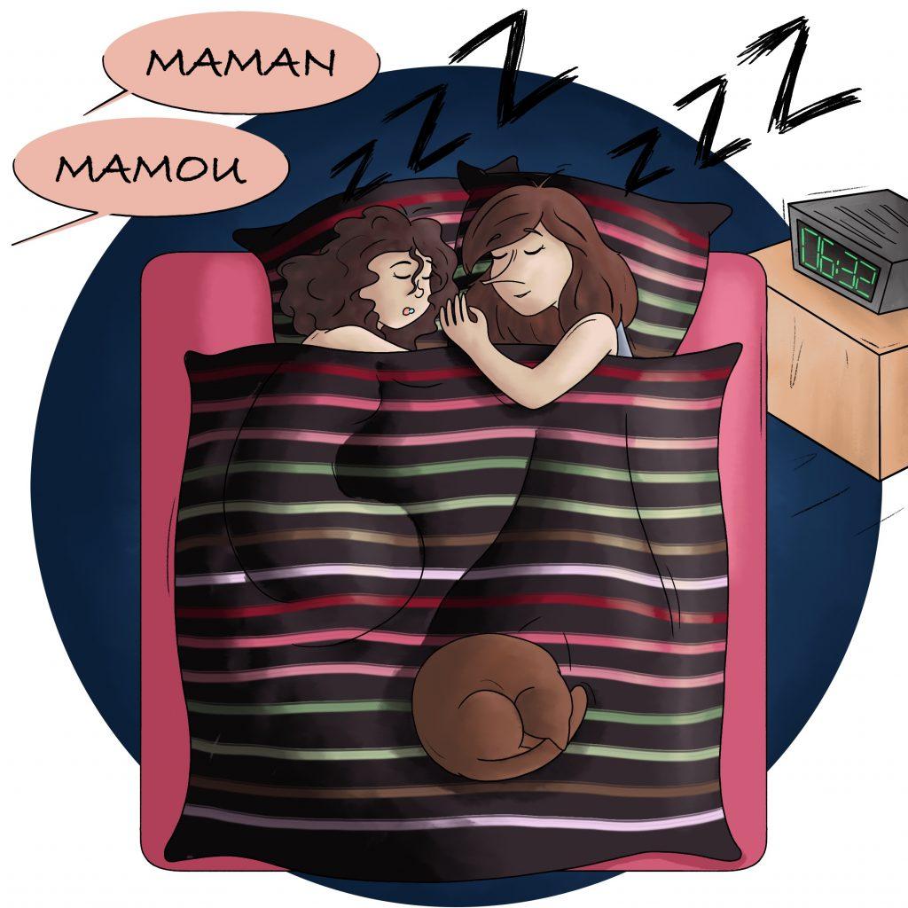 Illustration 2 mamans être réveillée trop tôt