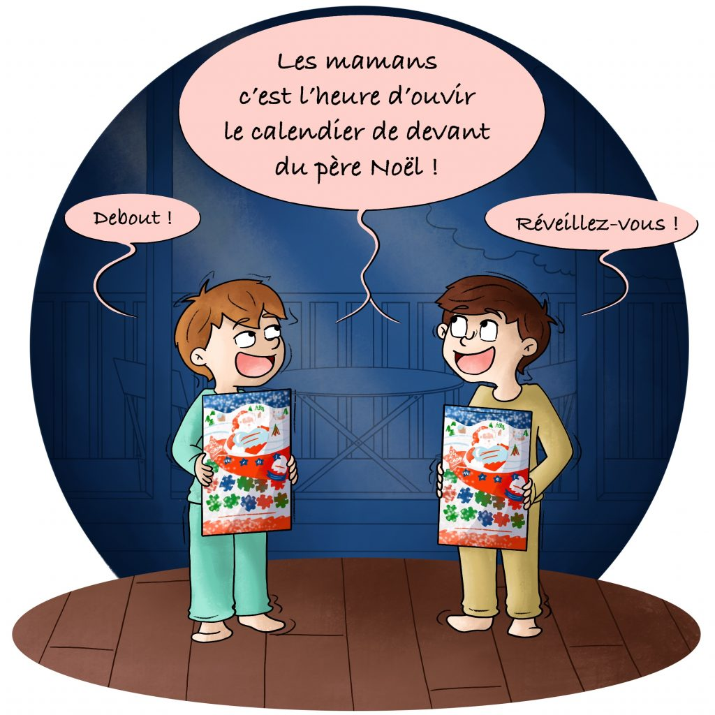 Illustration calendrier de l'avant