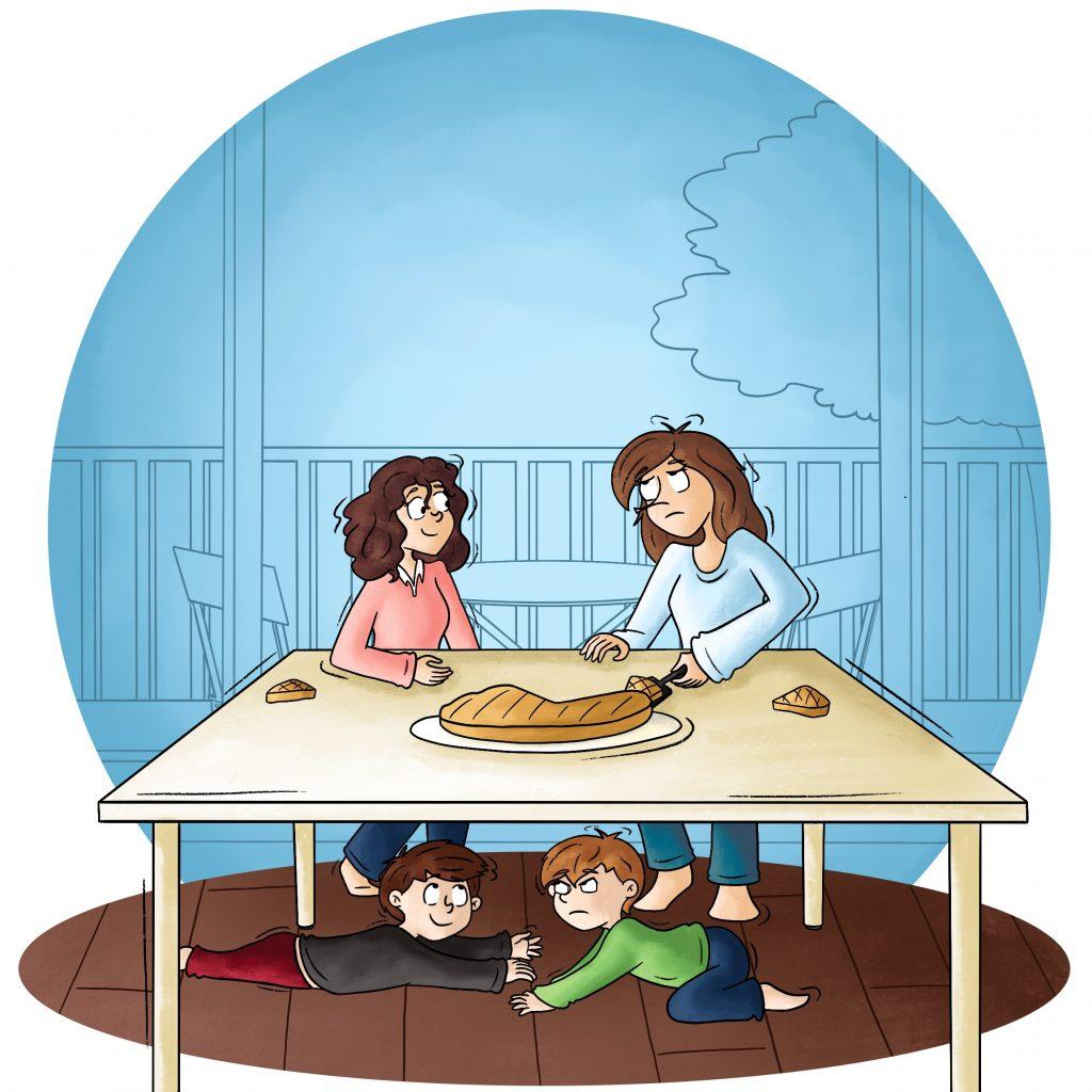 Illustration se disputer pour la galette