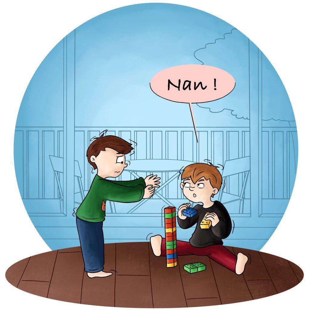 Illustration l'entente entre les jumeaux