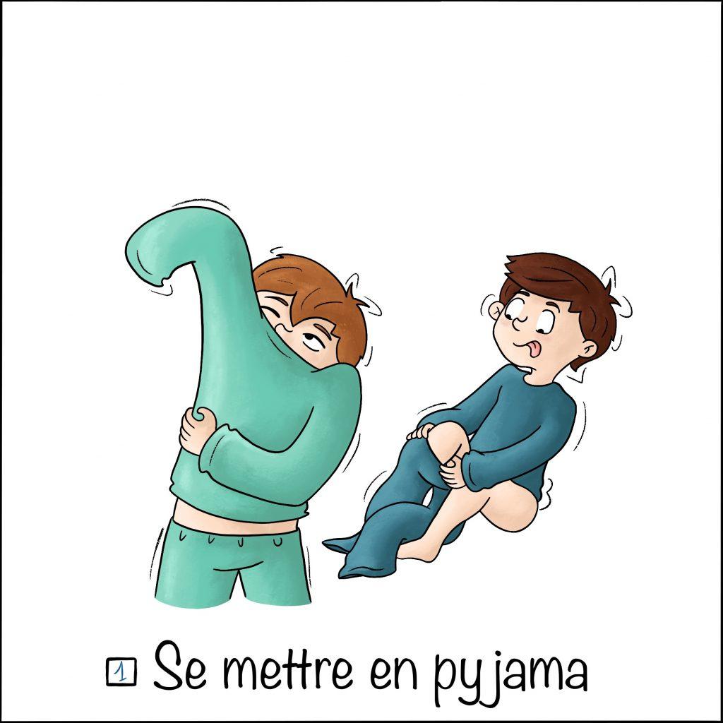 Les étapes du coucher se mettre en pyjama