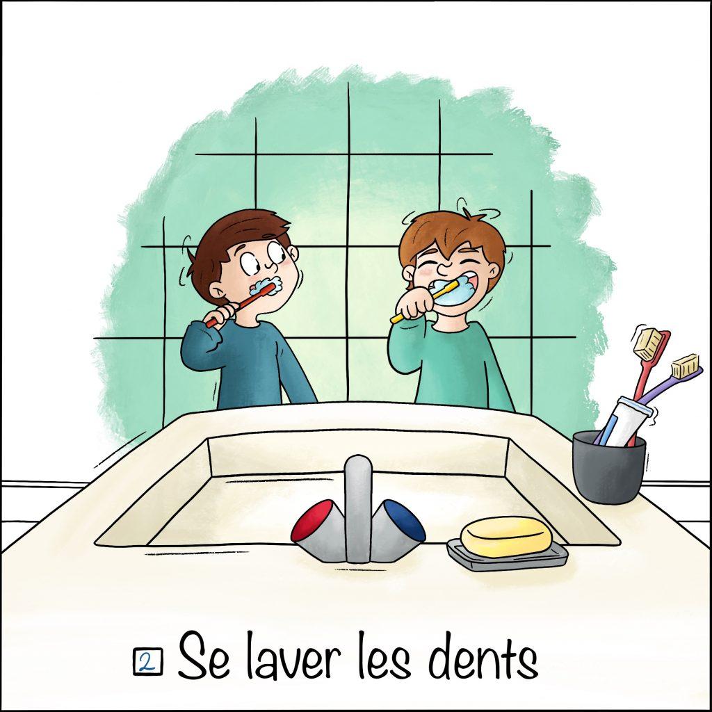 Les étapes du sommeil se laver les dents