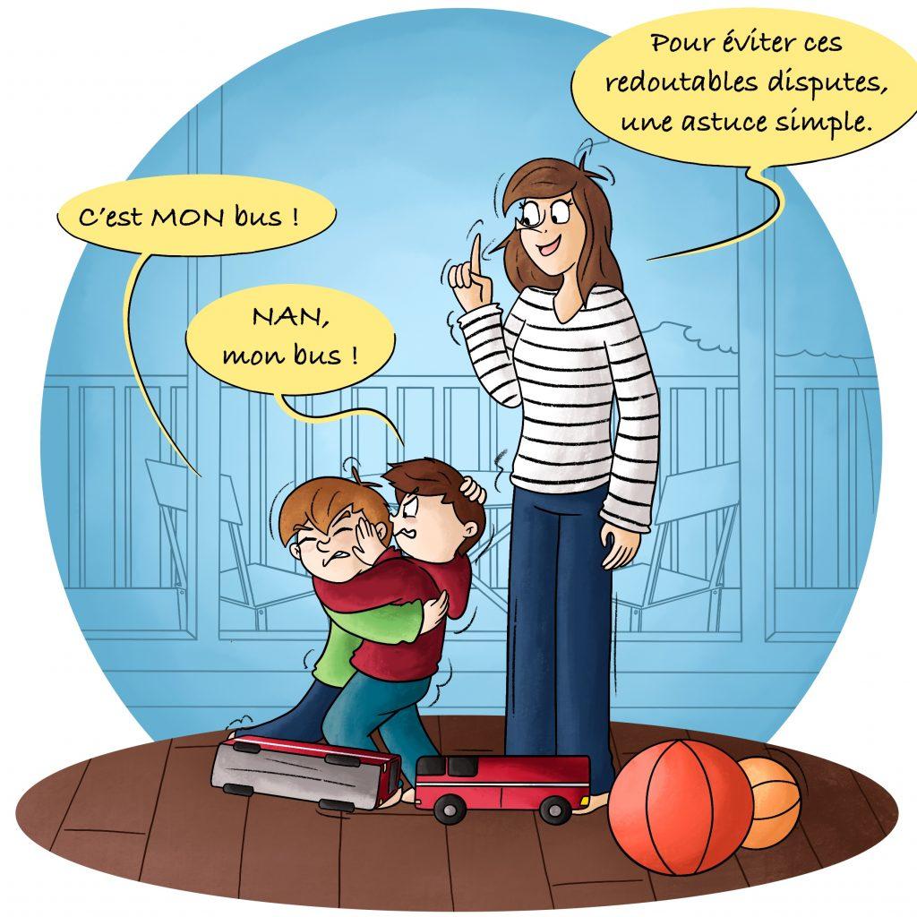 Illustration dispute entre frères