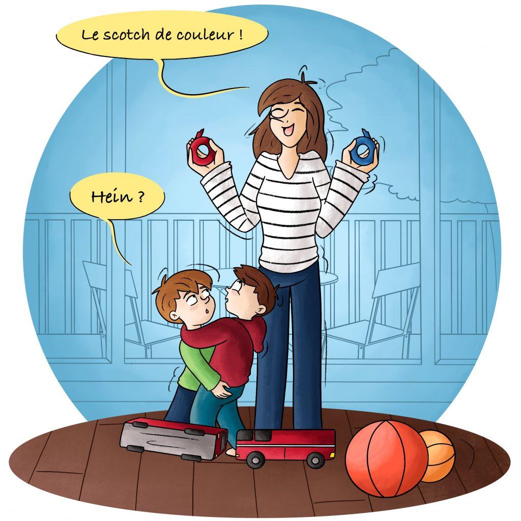 Illustration astuce de maman