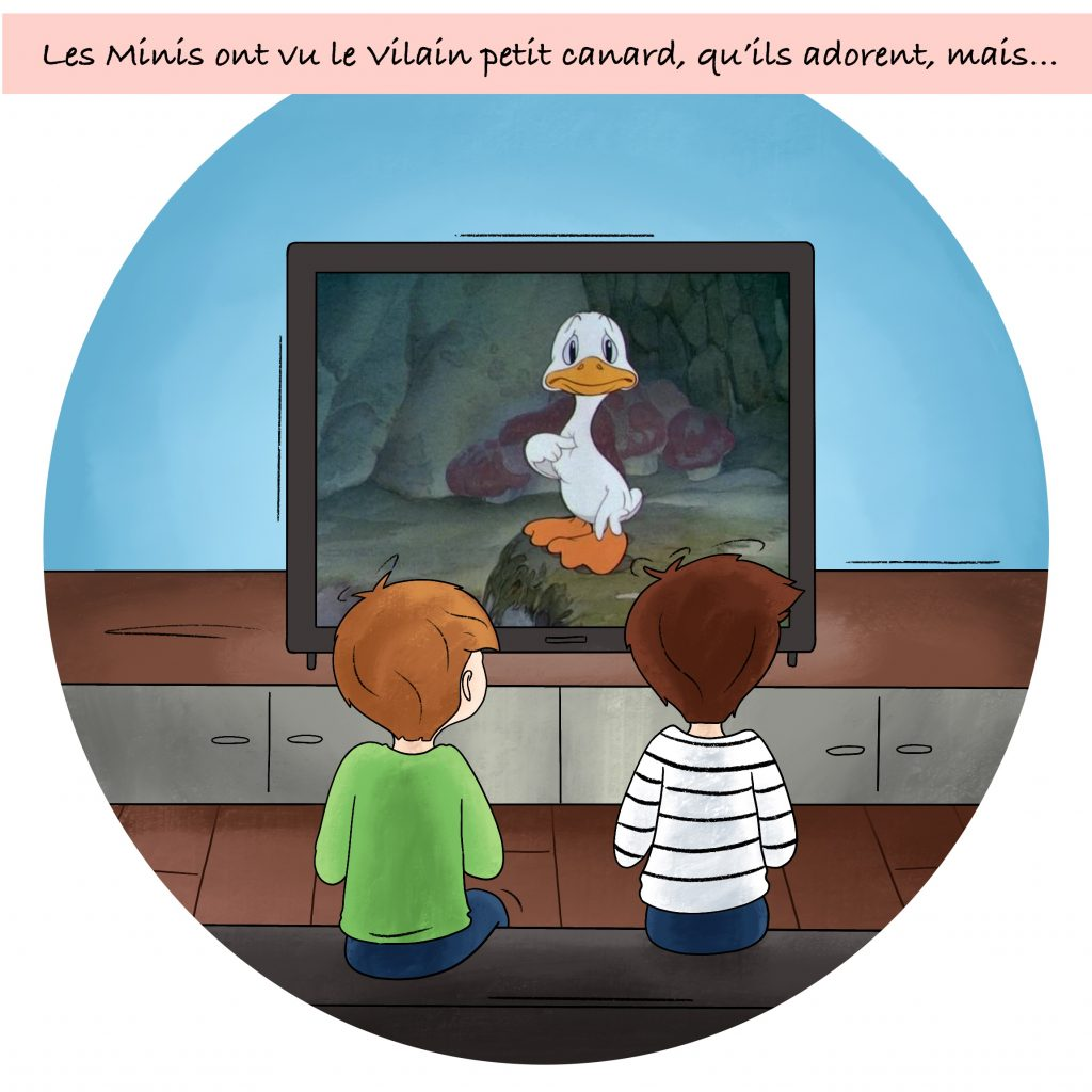 Illustration le vilain petit canard